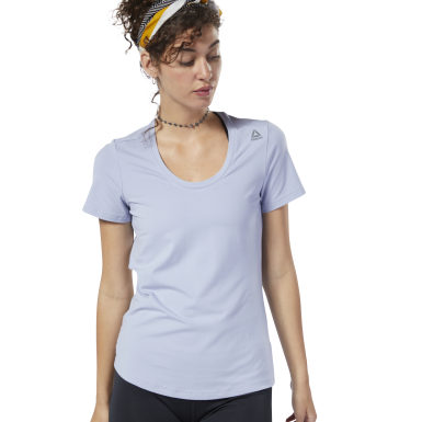 Women Fitness & Training Purple Workout Ready Speedwick Tee