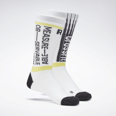 Cross Training White CrossFit® Printed Crew Socks