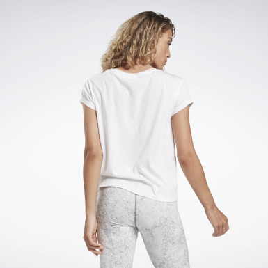 Women Yoga White Restorative Studio Graphic Tee