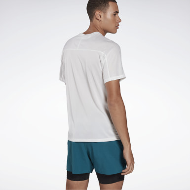Men Running White One Series Running Reflective Move Tee