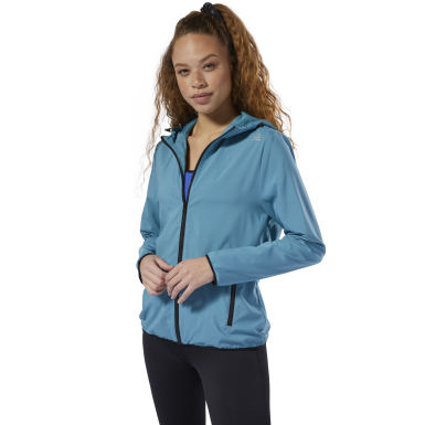 Women Fitness & Training Grey Full Zip Hoodie