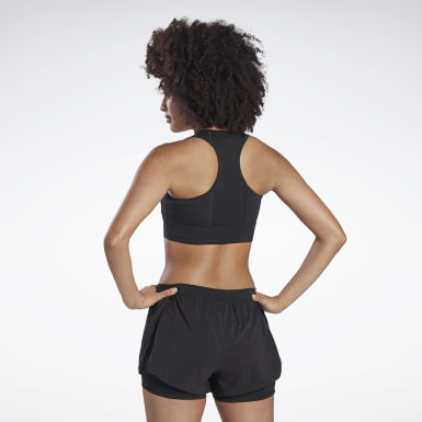 Women Running Black Running Essentials High-Impact Bra