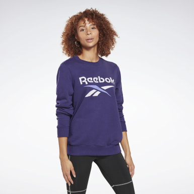 Women Training Reebok Identity Logo French Terry Crew Sweatshirt