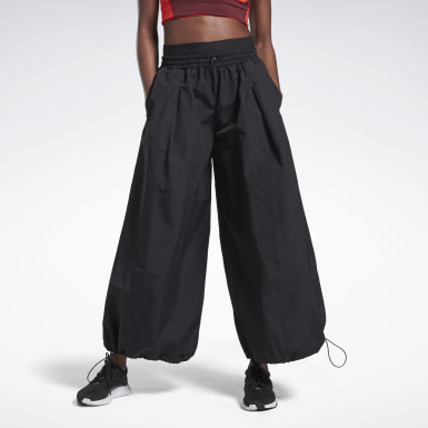 Women Studio Black Wide Leg Woven Pants