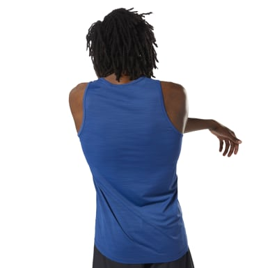 Men Cycling Blue LES MILLS™ ActivChill Tank
