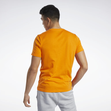 Camiseta Graphic Series Reebok Stacked Naranja Hombre Fitness & Training