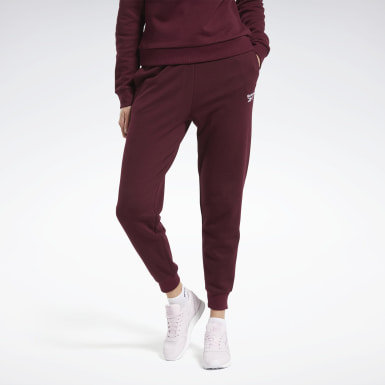 Women Classics Burgundy Classics French Terry Pants