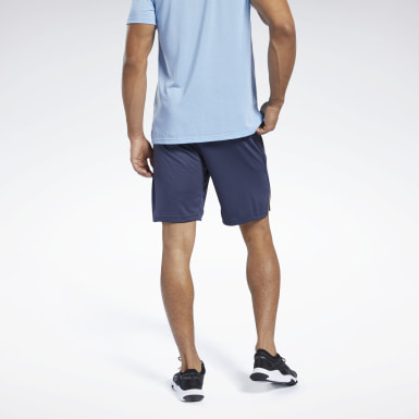 Heren Wandelsport Blauw Workout Ready Short