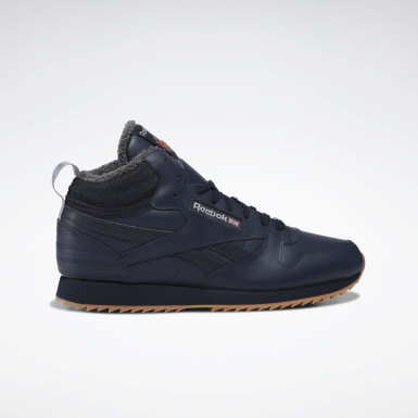 синий Кроссовки Reebok Classic Leather Mid Ripple