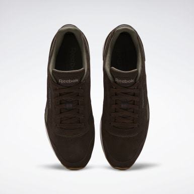 Men Classics Brown Reebok Royal Glide Shoes