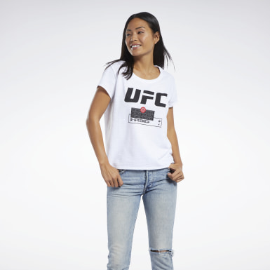 Women Combat White UFC FG Fight Week Tee