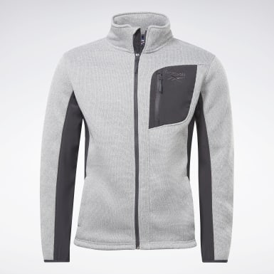 Men Hiking Grey All Weather Jacket