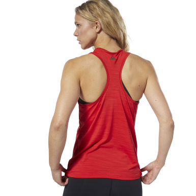 Women Studio Red LES MILLS BODYPUMP® ACTIVCHILL Vent Tank Top