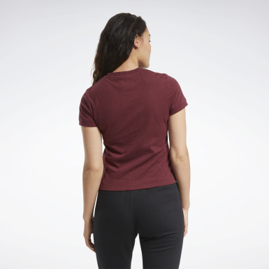 Women Fitness & Training Red Training Essentials Textured Tee