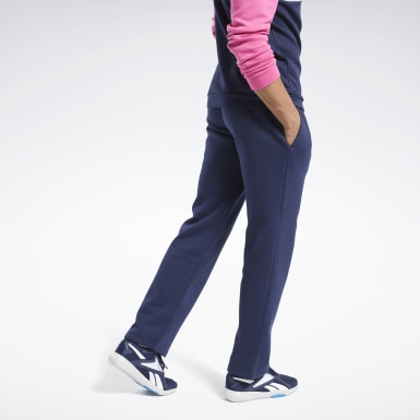 Men Fitness & Training Blue Training Essentials Fleece Pants
