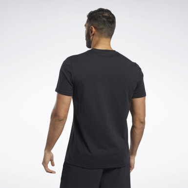 Männer Yoga Training Essentials Classic T-Shirt Schwarz