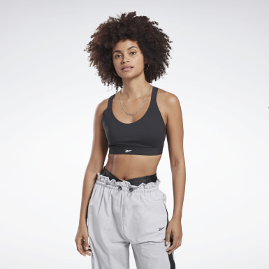 Women Yoga Black Reebok Hero High-Impact Power Bra