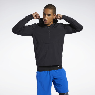 Men Training Black Speedwick Quarter-Zip Top