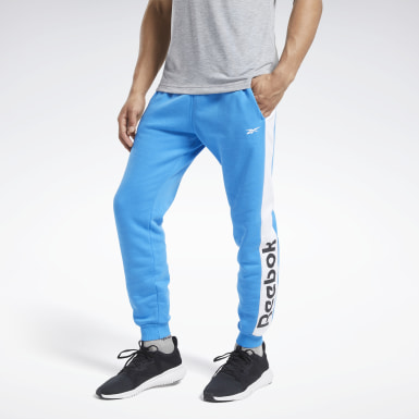 Heren Fitness & Training Blauw Training Essentials Linear Logo Joggingbroek