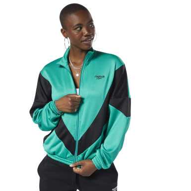Women Classics Green Classics Vector Track Jacket