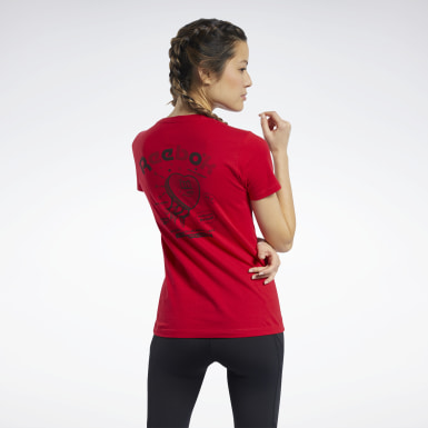 Women Training Valentine's Day Squats Tee