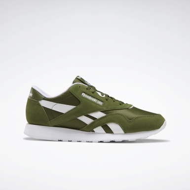 Men Classics Green Classic Nylon Shoes