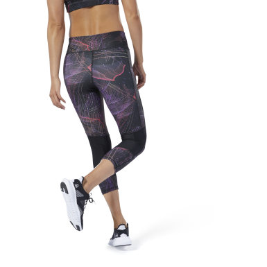 Women Running Black One Series Running 3/4 Length Leggings