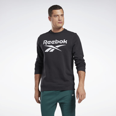 Men Fitness & Training Black Reebok Identity Big Logo Crew