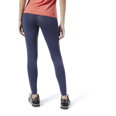 Women Training Blue Reebok Lux Tights 2.0
