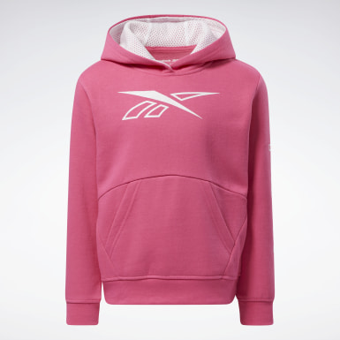 Girls Fitness & Training Pink Reebok Outline Hoodie