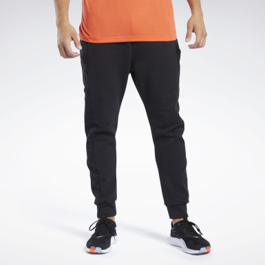 Men Fitness & Training Black Knit-Woven Jogger Pant