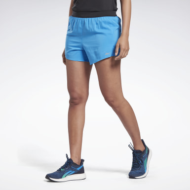 Women Running Blue Running Essentials 4-Inch Shorts