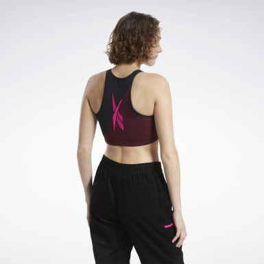 Women Classics Black Classics Fashion Low-Impact Sports Bra