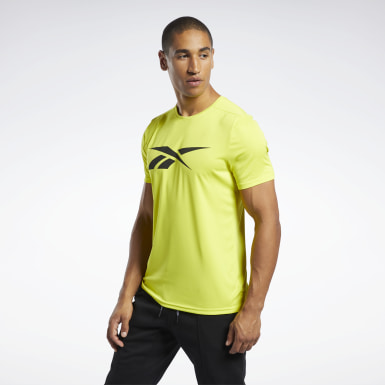 Men Fitness & Training Yellow Workout Ready Graphic T-Shirt