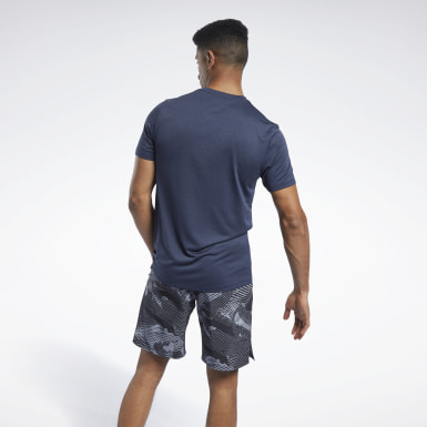 Men Training Blue Workout Ready Mélange Tee