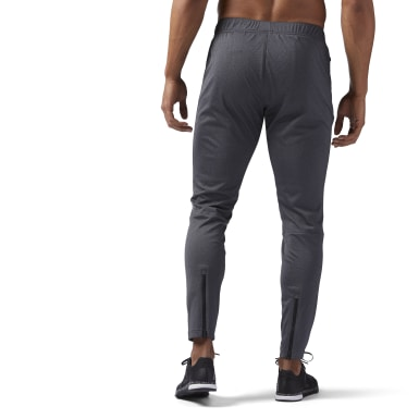 Men Training Grey Speedwick Knit Track Pants