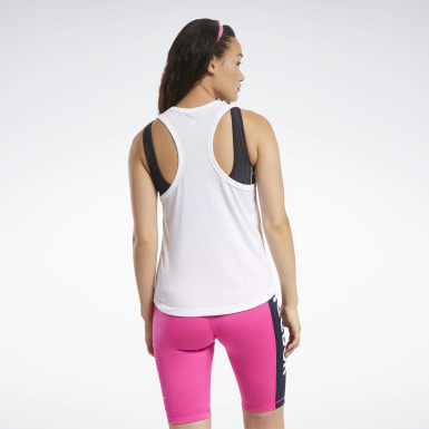 Women Fitness & Training White MYT Reebok Tank Top