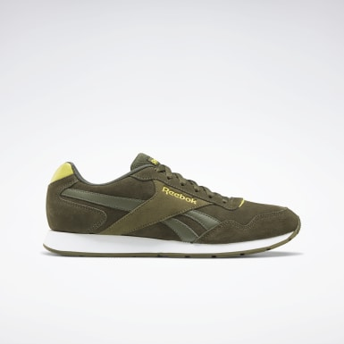 Men Classics Green Reebok Royal Glide Shoes
