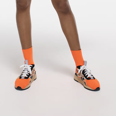 Classics Orange Victoria Beckham Bolton Sock Shoes