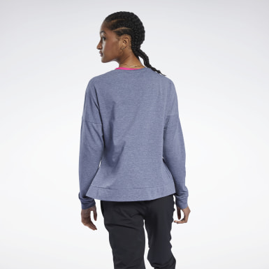 Kvinder Yoga Blue ACTIVCHILL+COTTON Long Sleeve Tee