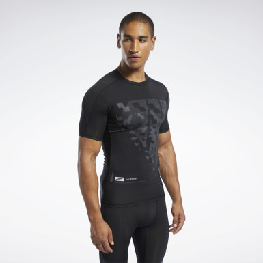 Männer Fitness & Training Compression T-Shirt Schwarz