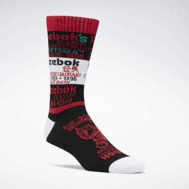 Classics Black Classics Graphic Food Crew Socks