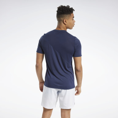 Men Fitness & Training Blue Workout Ready Supremium Tee