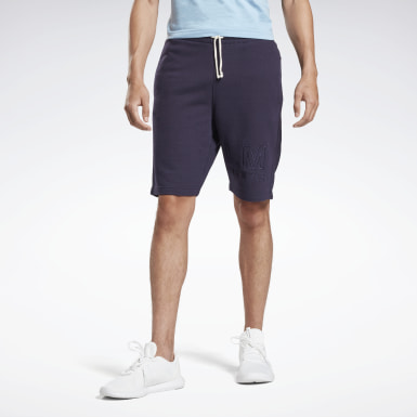 Short en molleton LES MILLS® Purple Hommes Studio