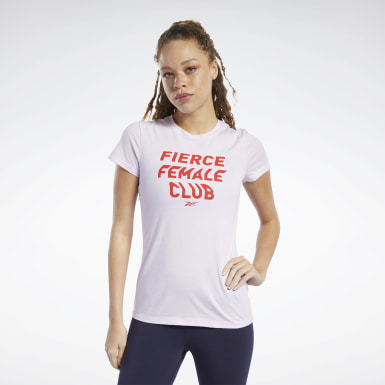 Remera Training Essentials Fierce Graphic Rosa Mujer Entrenamiento Funcional