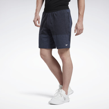 Men Yoga Blue United by Fitness MyoKnit Shorts
