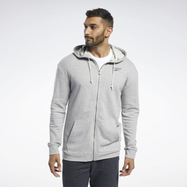 Men Training Grey Training Essentials Hoodie