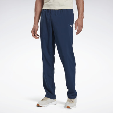 Men Hiking Blue Training Essentials Woven Unlined Pants
