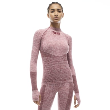 VB Seamless Textured Long Sleeve Top