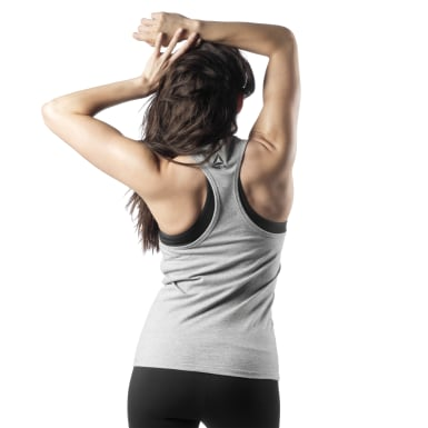 Women Cross Training Grey Weightlifting Tank